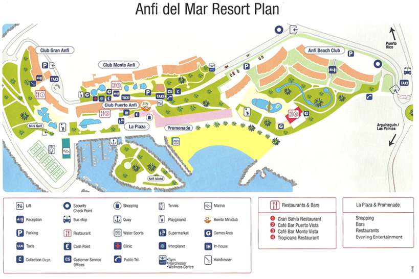 Map Anfi del Mar Gran Canaria